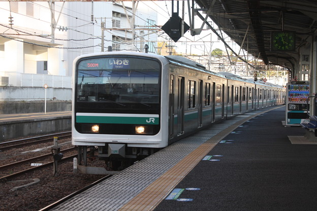水戸線 E501系K754編成 560M 普通 水戸 行
