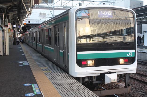 水戸線 E501系K754編成 普通 いわき 行