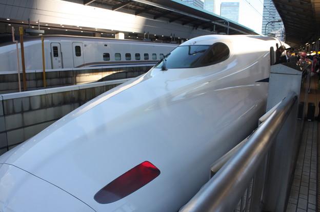 東海道新幹線 N700系 東京駅到着