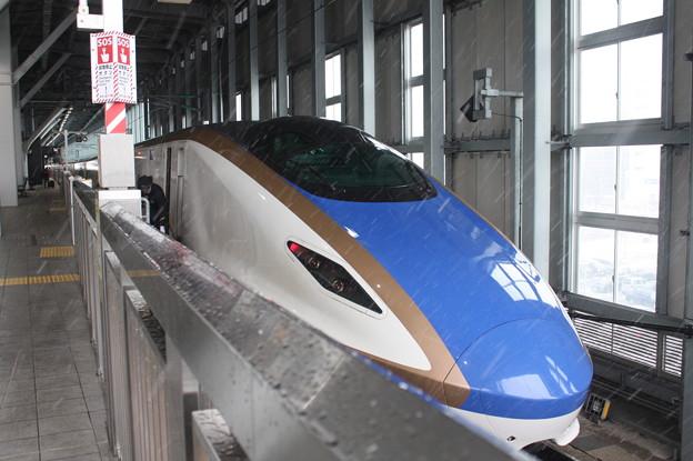 北陸新幹線 E7系F1編成 つるぎ713号 金沢 行