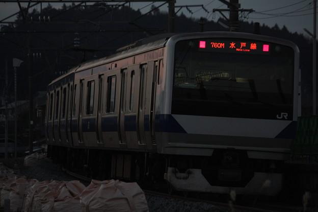 水戸線 E531系K455編成 760M 普通 小山 行 後追い (1)