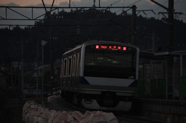 水戸線 E531系K455編成 760M 普通 小山 行 後追い (2)