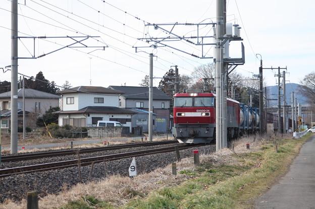 Photos: 2095レ EH500-34+コキ