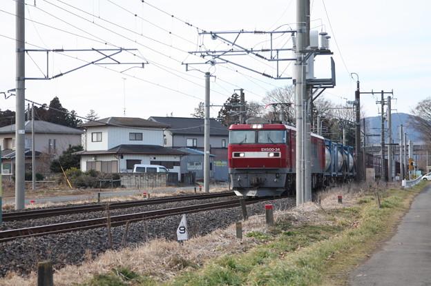 Photos: 2095レ EH500-34+コキ (1)