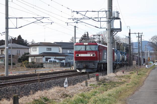 Photos: 2095レ EH500-34+コキ (3)