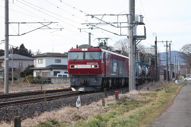 Photos: 2095レ EH500-34+コキ (5)