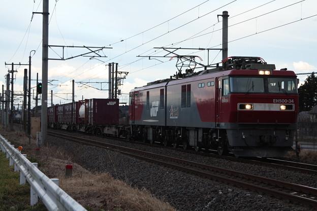Photos: 2094レ EH500-34+コキ (9)