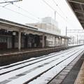 Photos: 雪のあいの風とやま鉄道滑川駅