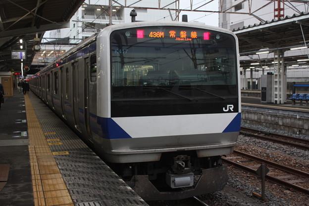常磐線 E531系K417編成 436M 普通 上野 行 2019.02.15