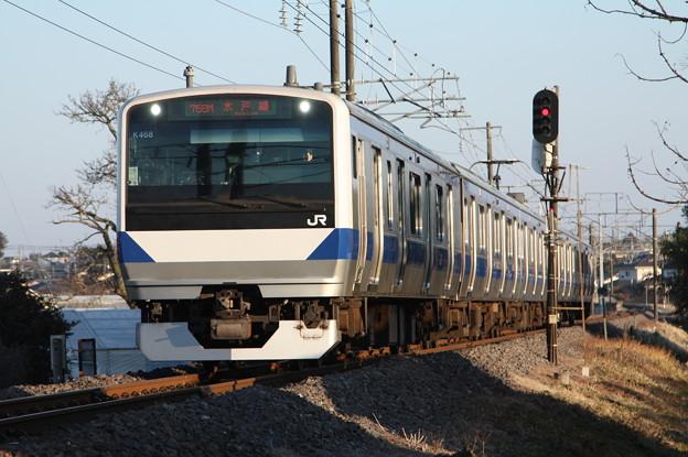 水戸線 E531系K468編成 758M 普通 小山 行 (1)