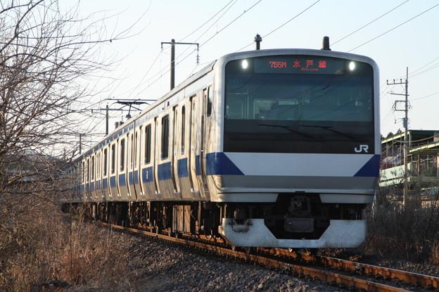 水戸線 E531系K451編成 753M 普通 友部 行
