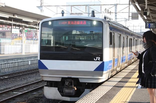 常磐線 E531系K460編成 1148M 普通 品川 行 土浦駅で増結作業開始 2019.03.02 (1)
