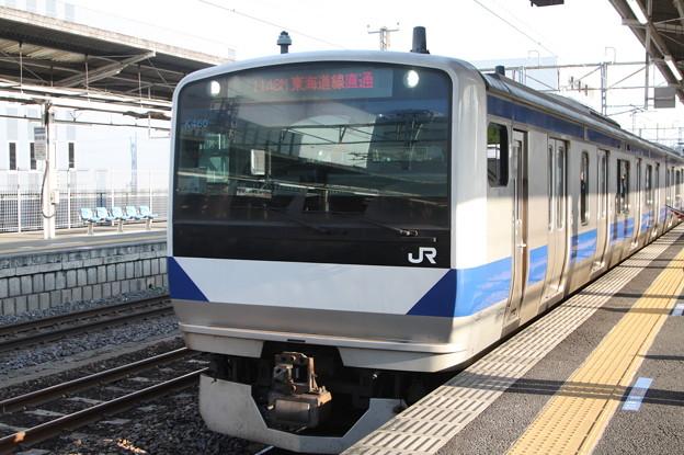 常磐線 E531系K460編成 1148M 普通 品川 行 土浦駅で増結作業開始 2019.03.02 (2)