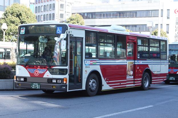 関東バス B1414号車 吉53系統 吉祥寺駅 行き