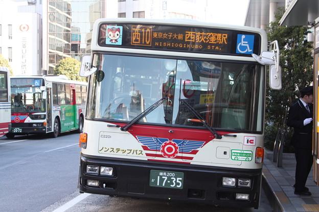 関東バス C2201号車 西10系統 東京女子大前 経由 西荻窪駅 行き