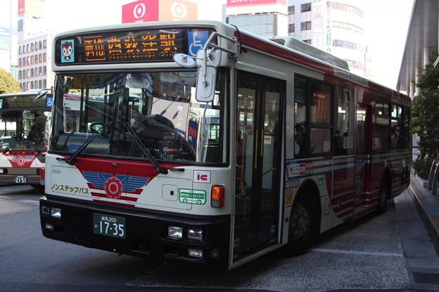 関東バス C2201号車 西10系統 西荻窪駅 行き