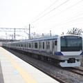 常磐線 E531系K426編成 372M 普通 上野 行 偕楽園駅通過