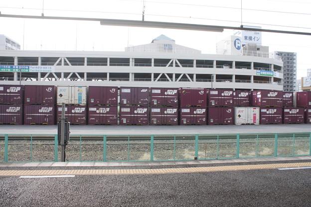 土浦駅のコンテナ