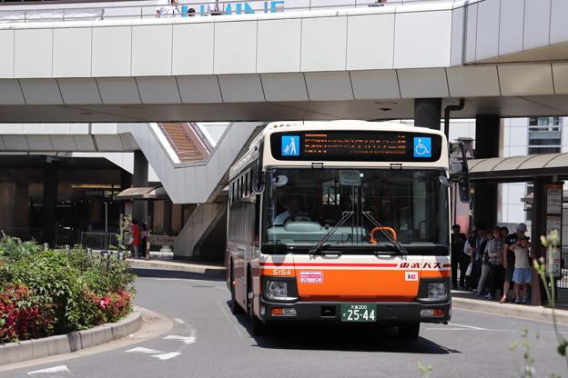 東武バス 5154号車 大69系統 自衛隊前 経由 シティハイツ三橋 行き