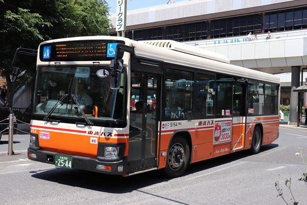 東武バス 5154号車 大69系統 自衛隊前 経由 シティハイツ三橋 行き (1)