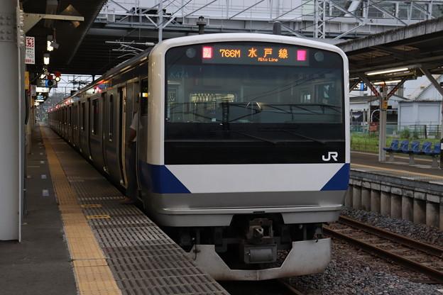 水戸線 E531系K474編成 766M 普通 小山 行 2019.07.22