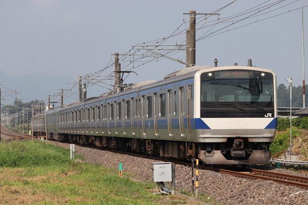 常磐線 E531系K424編成 1129M 普通 勝田 行 2019.08.03