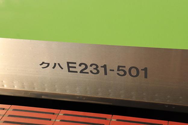 クハE231ー501 車番表記 外