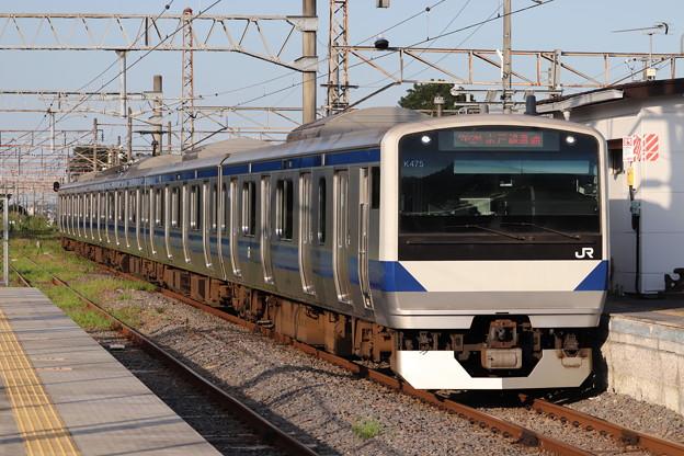 水戸線 E531系K475編成 762M 普通 小山 行 2019.08.05 (1)