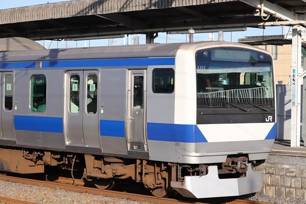 常磐線 E531系K423編成 2019.08.05
