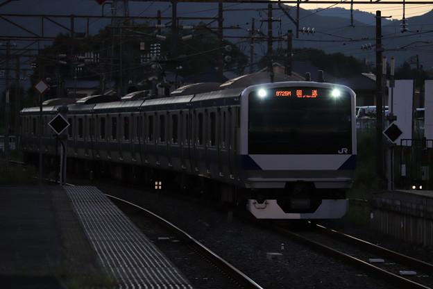 回8725M E531系3000番台K552編成 KY出場回送 2019.09.09