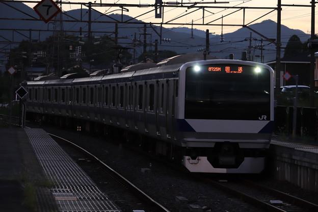 回8725M E531系3000番台K552編成 KY出場回送 2019.09.09 (1)
