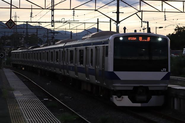 回8725M E531系3000番台K552編成 KY出場回送 2019.09.09 (2)