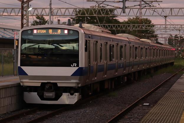 回8725M E531系3000番台K552編成 KY出場回送 後追い (1)