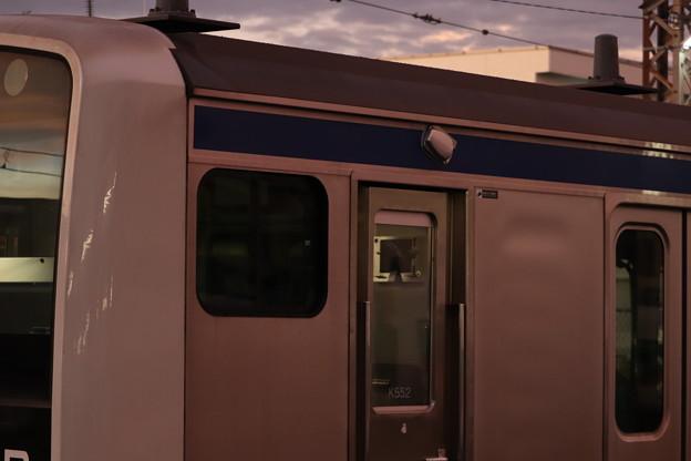 E531系3000番台K552編成の側面に取り付けられた安全確認カメラ