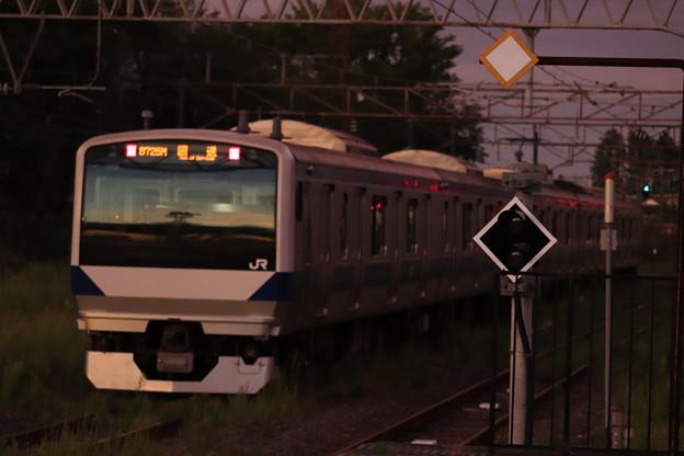回8725M E531系3000番台K552編成 KY出場回送 後追い (3)