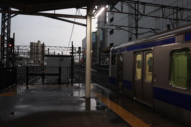 ゲリラ豪雨の水戸駅構内 2019.09.11