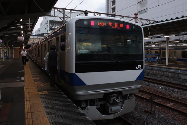 常磐線 E531系K406編成 448M 普通 上野 行 2019.09.12