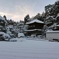 31.雪景色の観音堂と銀沙灘