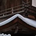 Photos: 35.屋根に積もった銀閣観音堂の雪の厚み