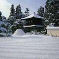 Photos: 38.雪景色の観音堂と向月台(絵葉書より)