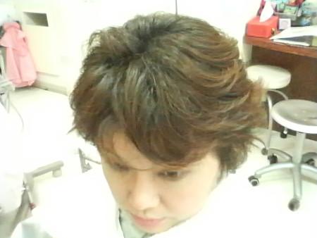 矯正前の髪を記録