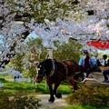 写真: 北上展勝地のばん馬