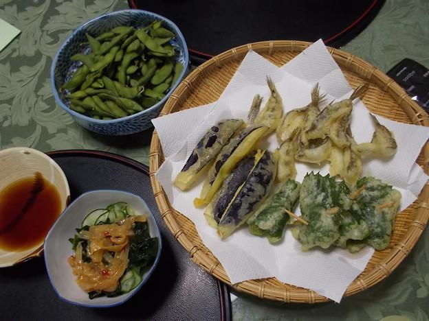 ハゼと夏野菜の天ぷら