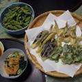 写真: ハゼと夏野菜の天ぷら