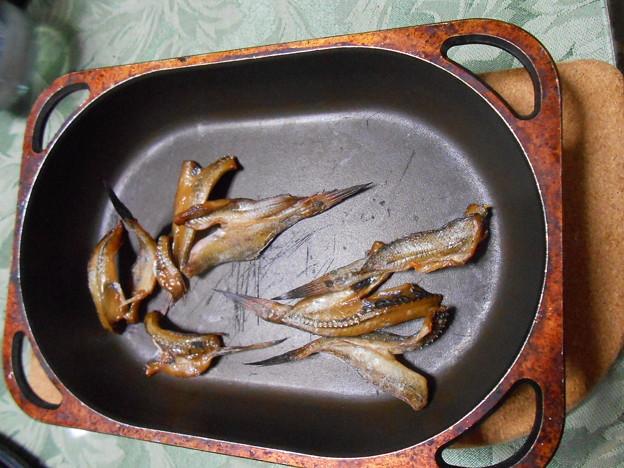 ハゼの開きの麺つゆ干しを焼いて食べた