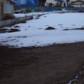 雪が解けた畑