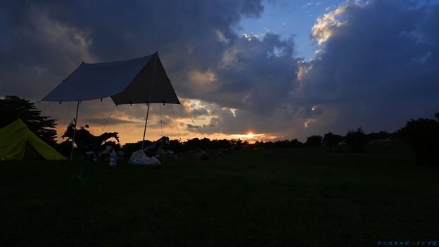 牧場の夕日