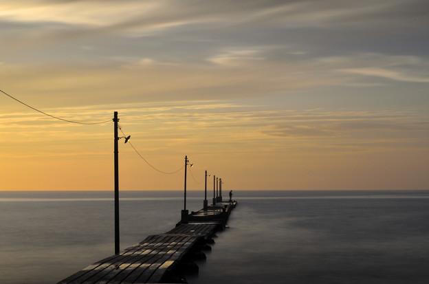 夕暮の桟橋