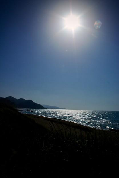 居多ケ浜の日差し