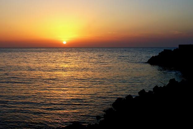 名立の夕陽・暮れ始め